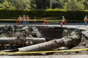 Loss Of 15 Million Gallons Of Water Due To Pipeline Burst In San Andreas
