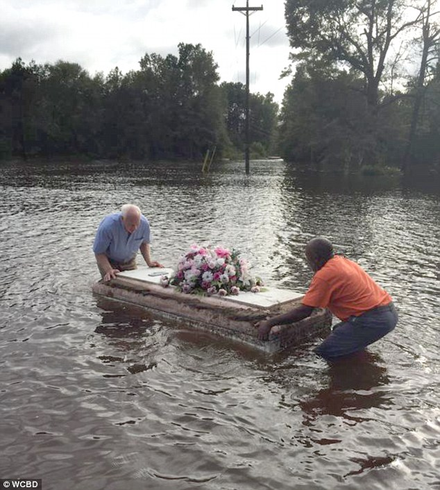 Coffins Are Not Safe Because Of Floods